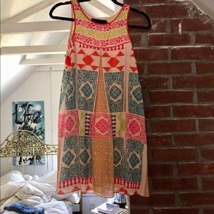 Anthropologie tile swing dress